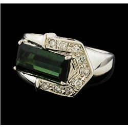 2.34 ctw Tourmaline and Diamond Ring - Platinum