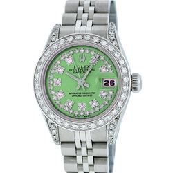 Rolex Stainless Steel 1.00 ctw Diamond DateJust Ladies Watch