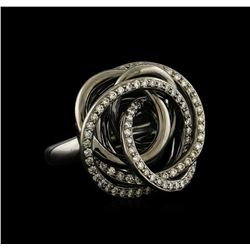 1.37 ctw Diamond Ring - 18KT White and Black Gold