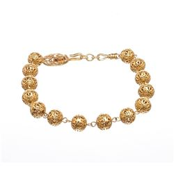 Chanel Gold Choker Ball Necklace