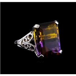 15.27 ctw Ametrine Ring - 14KT White Gold