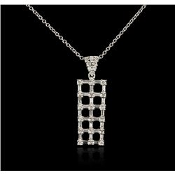 14KT White Gold 1.04 ctw Diamond Pendant With Chain