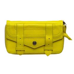 Proenza Schouler Neon Yellow Long Zippy Wallet