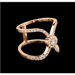0.54 ctw Diamond Ring - 14KT Rose Gold