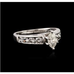 Platinum 0.99 ctw Diamond Ring