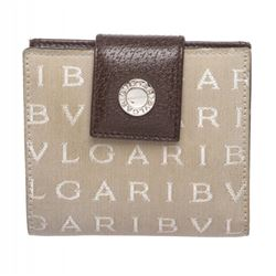 Bvlgari Beige Monogram Fabric Bi Fold Small Wallet