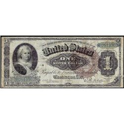 1886 $1 Martha Washington Silver Certificate Brown Seal Note