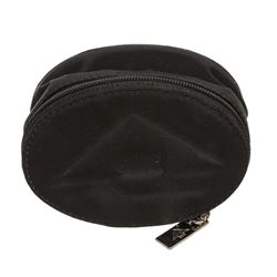 Bottega Veneta Vintage Black Cheetah Print Nylon Zipper Case