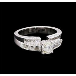 1.42 ctw Diamond Ring - 18KT White Gold