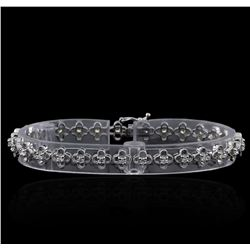 1.13 ctw Diamond Bracelet - 14KT White Gold