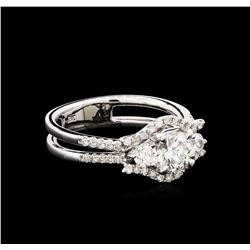 1.22 ctw Diamond Ring - 18KT White Gold