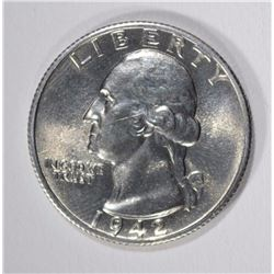 1942-S WASHINGTON QUARTER, BU