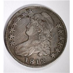 1812 CAPPED BUST HALF DOLLAR, VF/XF