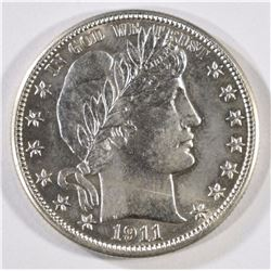 1911-D BARBER HALF DOLLAR HAS GEM BU