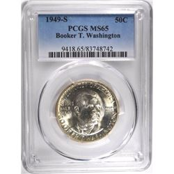 1949-S BOOKER T WASHINGTON HALF DOLLAR, PCGS MS-65