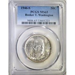 1946-S BOOKER T. WASHINGTON HALF PCGS MS-65