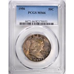 1956 FRANKLIN HALF DOLLAR, PCGS MS-66