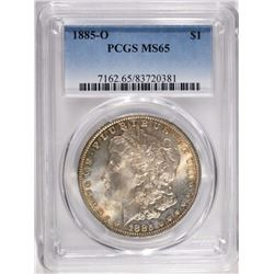 1885-O MORGAN DOLLAR, PCGS MS-65