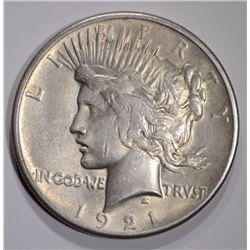 1921 PEACE DOLLAR  XF-AU