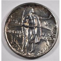 1934-D OREGON TRAIL COMMEM HALF DOLLAR, CH BU