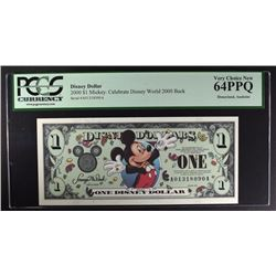 2000 $1 MICKEY MOUSE DISNEYLAND DOLLAR