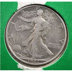 1921-S WALKING LIBERTY HALF DOLLAR XF