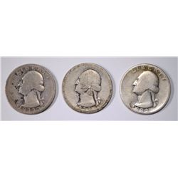 3 1932-D WASHINGTON QUARTERS