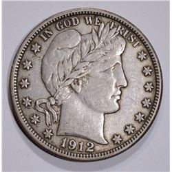 1912 BARBER HALF DOLLAR XF