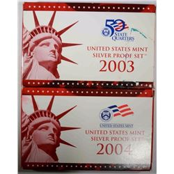 2003 & 2004 Silver Proof Sets