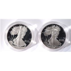 1986 & 1987 Proof American Silver Eagles