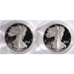 1990 & 1991 Proof American Silver Eagles.