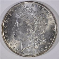 1887 MORGAN DOLLAR, CH BU++ BLAST WHITE