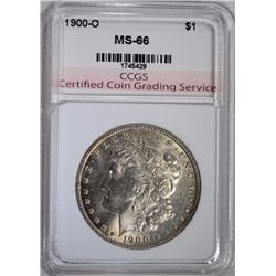1900-O MORGAN DOLLAR, CCGS SUPERB GEM BU