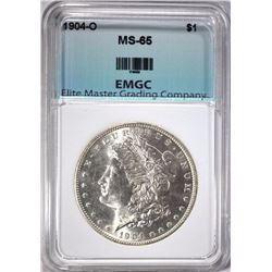 1904-O MORGAN SILVER DOLLAR, EMGC  GEM BU