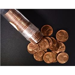 BU ROLL OF 1948-D LINCOLN CENTS