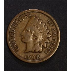 1908-S INDIAN CENT  VG+