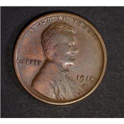 1914-D LINCOLN CENT  VG-FINE