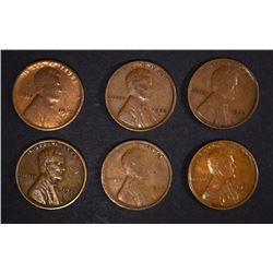 6 1922-D LINCOLN CENTS  NICE  VG-F-VF COINS