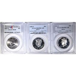 3 - PCGS GRADED KENNEDY HALF DOLLARS: