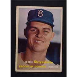 1957 TOPPS #18 DRYSDALE VGEX