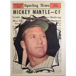 1961 TOPPS #578 MICKEY MANTLE AS EM+