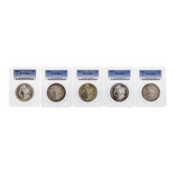 Lot of (5) 1881-S $1 Morgan Silver Dollar Coin PCGS MS64