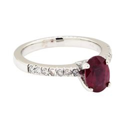 14KT White Gold 1.49ct Ruby and Diamond Ring