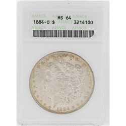 1884-O $1 Morgan Silver Dollar Coin ANACS MS64