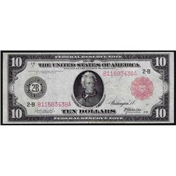 1914 $10 Federal Reserve Note Red Seal
