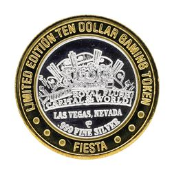 .999 Silver Fiestas Slothouse Las Vegas $10 Casino Limited Edition Gaming Token
