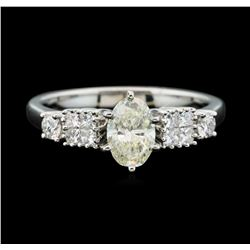 Platinum 1.11ctw Diamond Ring