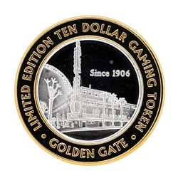 .999 Silver Golden Gate Las Vegas, NV $10 Casino Limited Edition Gaming Token