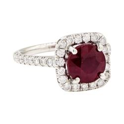 14KT White Gold 2.10ct Ruby and Diamond Ring