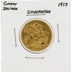 1913 Great Britain Gold Sovereign Coin